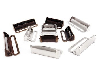 """Suspender garter toothed lever adjusters various sizes 20 - 40 mm (1"""" - 1 1/2"""")"""