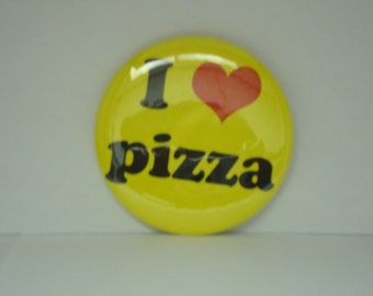 I Love Pizza 2 1/4 inch Pinback Button or Magnet