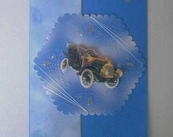 Old car man card