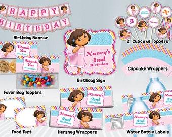 Dora Princess Printable Party Package