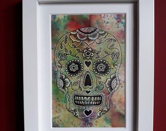 Multicolour Mexican Skull