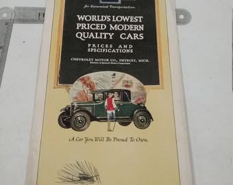 Vintage chevrolet sales brochure full color