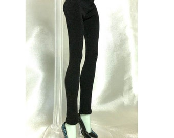 Tight pants/leggings/clothes for Monster high doll- Plain black  - No: 619