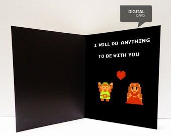 Zelda Valentine's Day Love Printable Card