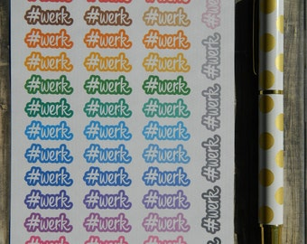 Hashtag Werk Sticker Sheet for Planners (A-105)