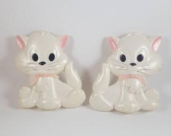 Vintage Set of Wall Kitties (2 pcs.)
