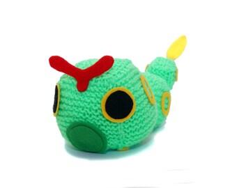 Caterpie Pokemon  Cube Handmade Plush