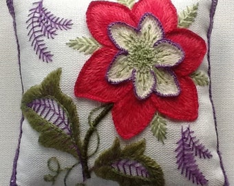 Crewel Embroidery kit for beginners-Flower Study