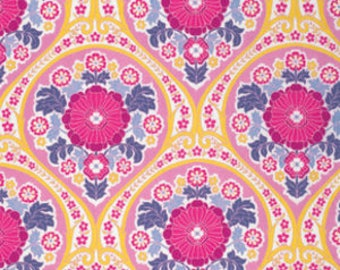 Joel Dewberry Fabric, Atrium, Grace, Fuchsia, Floral, cotton quilting fabric - YARD