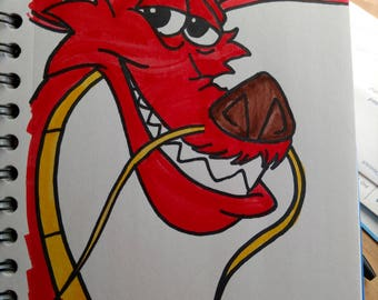 Mushu Mulan ORIGINAL Sketch