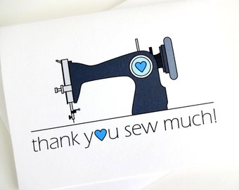 Thank You Sew Much Sewing Machine Card