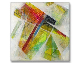 Affordable Wall Art, Abstract Canvas, Abstract Painting, Mixed Media Art, Canvas Print, 36x36 Print Canvas, 30x30 Canvas and more sizes
