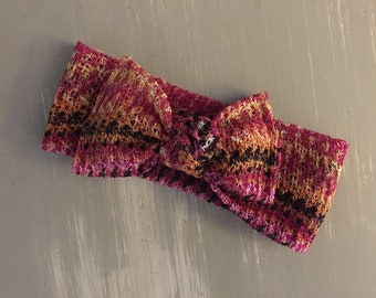 Newborn knotted headband, newborn girl photo prop, newborn photography, knot headband, bow tie headband