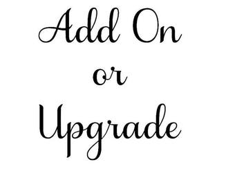 Add on or Upgrade your order.... ONLY with purchases of the feather dresses