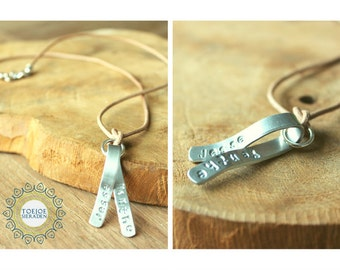 Necklace with Name or text pendant