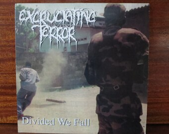 Excruciating Terror Divided We Fall Album Lp Vinyl Record / music Record Collection / 33 Rpm / 12''inches / Rock Grindcore Hardcore Metal