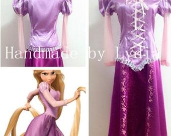 Handmade - Rapunzel Dress, Rapunzel Costume, Rapunzel Cosplay, Rapunzel Dress Adult/kid Available