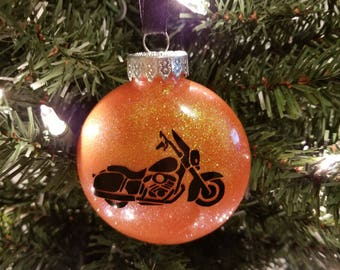 Harley Inspired Motorcycle Sillohuette Ornament