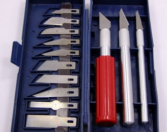 Precision 16 Piece Crafters Knife Set With 3 Handles And 13 Blades  SALE While Supplies Last