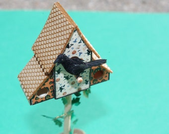 Miniature 1:12 Scale Crow