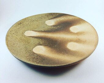 Dinner plate, Woodfired Ceramic Plate, Handmade Pottery Plate, Modern Ceramic Plate, Pottery Dinnerware, Rustic Dinnerware Plate