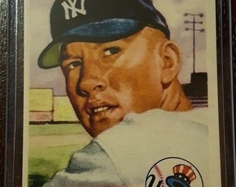 """Certified AUTHENTIC"""" Reprint  MICKEY MANTLE 1953 Topps#82 Card***Mint***"""