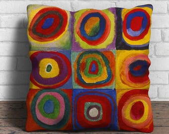Color Study by Kandinsky - Cushion Cover - 18x18 inches