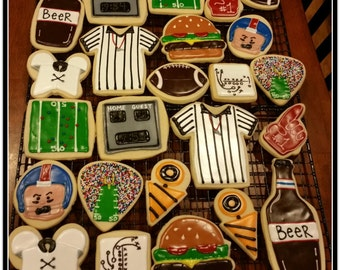 Football Cut Out Sugar Cookies