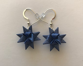 Moravian Star Earrings—Iris Shimmer
