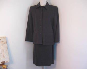 Pendleton Wool Suit Charcoal Grey Suit Ladies Wool Suit size 14