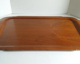 Large mid century molded plywood serving tray