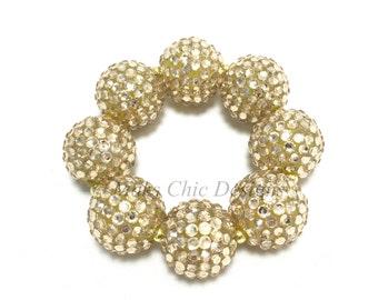 Baby, Toddler, Girls, Teen, Ladies All Bling Gold Sparkle Chunky bracelet - Girls Gold bracelet - Flower girl bracelet - Pageant bracelet