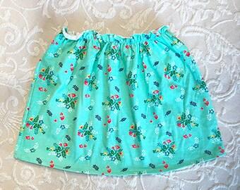 Child's Mint Posy Cute-n-comfy skirt