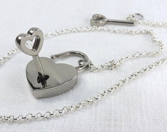 discreet day collar submissive collar heart lock slave collar submissive jewelry pinchthemuse lock and chain choker