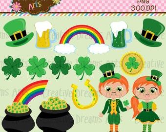 40% off St Patricks Day Digital Clip Art Instant Download
