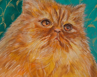 Custom cat portrait original cat art Cat wall decor Cat lover picture Cat canvas art Cat painting Cat artwork Pet acrylic paintings