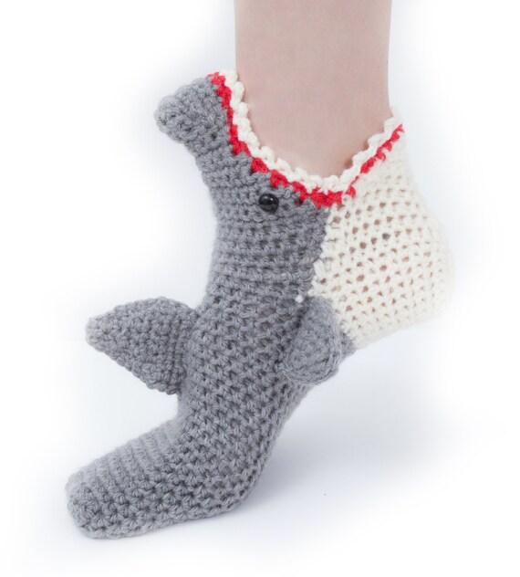 Fine Crochet Pattern Shark Socks Pictures Sewing Ideas