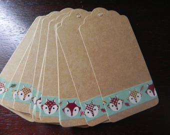 """Once upon a time... 15 gift tags """"Fox card stock measuring 9 x 4 cm"""""""