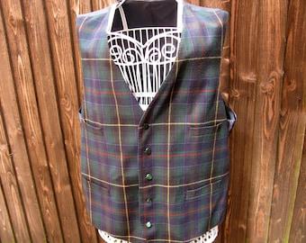 Brook Taverner Waistcoat, Moon Tartan, Mens Waistcoat, Vintage Waistcoat, Tartan Waistcoat, Mens Formal Wear, Green Tartan, Prom, Groom