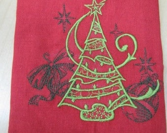 Christmas Tree Towel - DISCOUNTED FOR FLAW