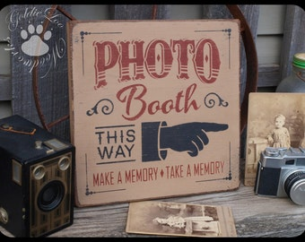 Photo Booth, Typography Word Art , Primitive Sign