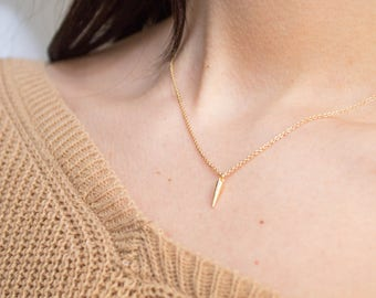 Fang -necklace (16K gold plated bullet fang charm hoops)