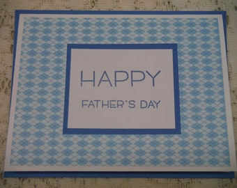 handmade greeting card; father's day card; card