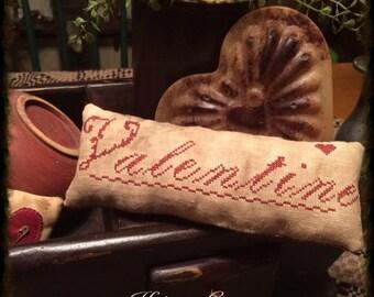 Valentine Pillow Tuck | Primitive Valentine | Hearts | Primitive Stitchery | Primitive Valentine Decor | Valentines Day | Prim Pillow Tuck