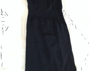 The Perfect Little Black Silk Dress