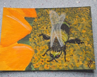 Original ACEO- Bumble Bee #2