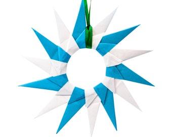 Fourteen-Point Star Origami Ornaments