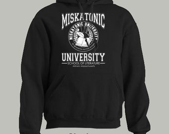 MISKATONIC UNIVERSITY HOODIE ~ seal cthulhu hp lovecraft mythos arkham literature
