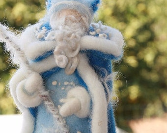 Waldorf Inspired Needle Felted King Winter for Nature Table/Winter Nature Table/Gifts for Kids/Gifts for Mom/Felted King/Christmas Decor