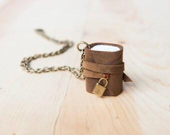 Mini journal Necklace, Mini Book Necklace